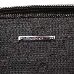 Gucci Black GG Canvas Boat Pochette Bag
