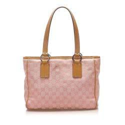 Gucci Pink GG Canvas Tote Bag