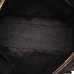 Gucci Black GG Canvas and Leather Charmy Boston Bag