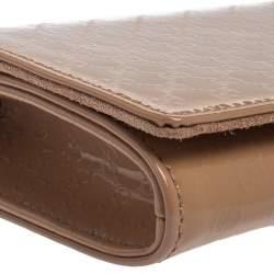 Gucci Pink Microguccissima Patent Leather Broadway Clutch