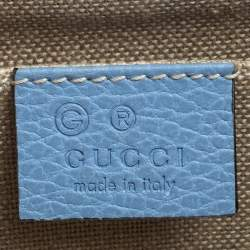 Gucci Blue Leather Small Interlocking G Crossbody Bag