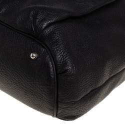 Gucci Black Grained Leather Medium G Coin Hobo
