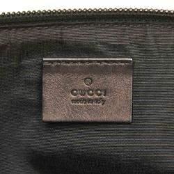 Gucci Black GG Canvas Boat Pochette Bag