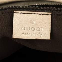 Gucci Beige/Cream GG Canvas and Leather Small Abbey D-Ring Hobo