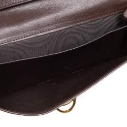 محفظة كونيننتال غوتشي جي جي متداخلة كانفاس جي جي بني/بيج وجلد