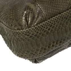 Gucci Green Python Large Wave Hobo