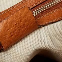 Gucci Brown Leather Medium Heritage Web Hobo