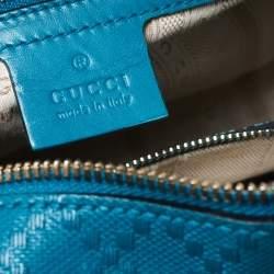 Gucci Blue Diamante Leather Small Satchel