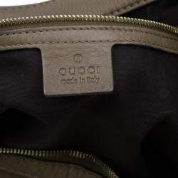 Gucci Brown Leather Medium Web Horsebit Heritage Hobo