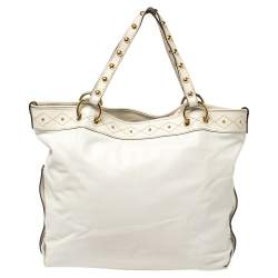 Gucci White Leather Large Irina Tote