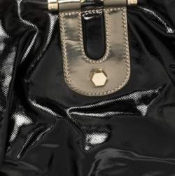 Gucci Black Coated Canvas and Leather Dialux Pop Bamboo Satchel