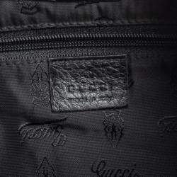 Gucci Black Guccissima Leather Flap Hobo