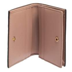 Gucci Blush Pink Guccissima Leather Bow Compact Wallet