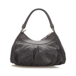 Gucci Brown Leather Abbey D-Ring Hobo Bag