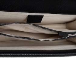 Gucci Black Leather Small Dionysus Shoulder Bag