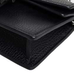 Gucci Black Leather Super Mini Dionysus Crossbody Bag