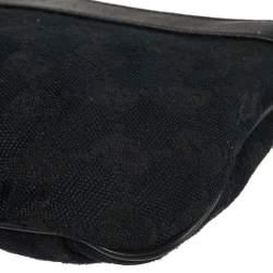 Gucci Blue GG Canvas and Leather Pochette Bag