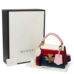 Gucci Multicolor Leather Small Queen Margaret Top Handle Bag