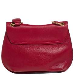 Gucci Red Leather GG Marmont Animalier Flap Shoulder Bag