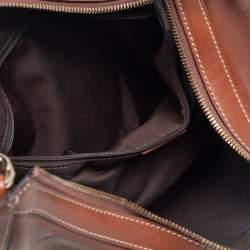 Gucci Brown Leather Small Charmy Hobo