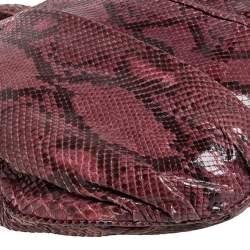 Gucci Burgundy Python Large Hysteria Hobo