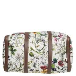 Gucci Multicolor Infinity Flora Print Canvas and Leather Medium Boston Bag