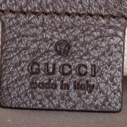 Gucci Beige/Ebony GG Supreme Chevron Canvas Medium Zip Pouch