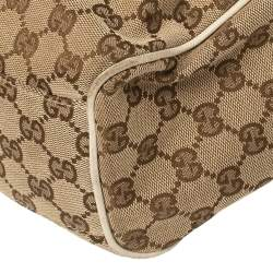 Gucci Beige GG Canvas and Leather Medium Sukey Tote