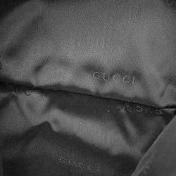 Gucci White Cotton Fabric Shoulder Bag