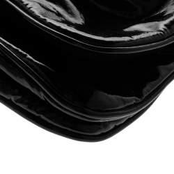 Gucci Black Patent Leather Hysteria Papillon Clutch