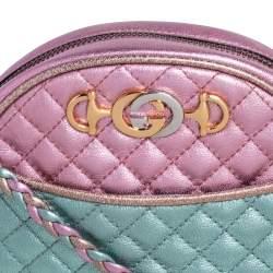 حقيبة كروس غوتشي ميني ترابونتاتا جلد مبطن ثلاثي اللون