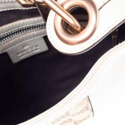 Gucci Beige/Brown GG Canvas and Leather Small Jackie Nailhead Hobo