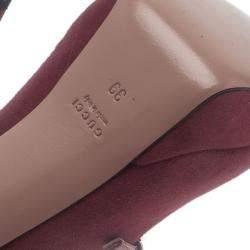 Gucci Pink Suede Lisbeth Multi Strap Platform Pumps Size 39