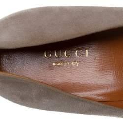 Gucci Grey Suede Charlotte Platform Pumps Size 40