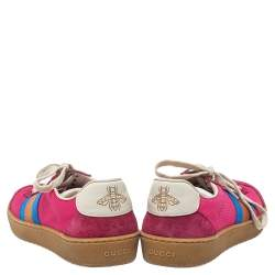 Gucci  Multicolor Suede And Fabric Furbe Sneakers Size 37.5