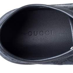 Gucci Black/ Blue Leather GG Canvas And Leather Low Top Sneakers Size 36