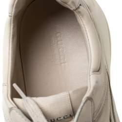 Gucci Off White Leather Rhyton Sneaker Size 41