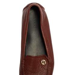 Gucci Brown Leather Loafers Size 36.5