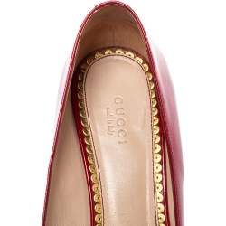 Gucci Red Patent Leather Mary Jane Pumps Size 40