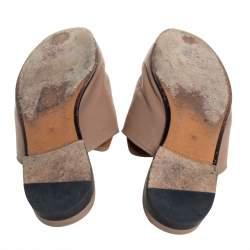 Gucci Beige Leather Princetown Horsebit Mules Size 36