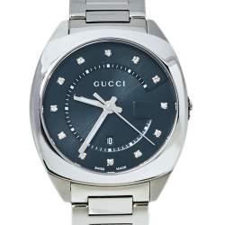 """ساعة يد نسائية غوتشي """"جي جي2570 واي ايه142404"""" ستانلس ستيل سوداء 36 مم"""