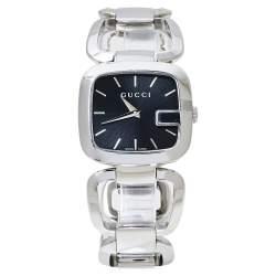 Gucci Black Stainless Steel G-Gucci 125.4 Women's Wristwatch 32 MM