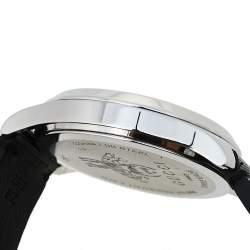 ساعة يد نسائية غوتشي جي-تايمليس واي ايه1264105 جلد مطبوع نجوم و نحل و ستانلس ستيل أسود 38 مم