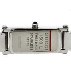 Gucci Silver Stainless Steel 1500L Quartz Women's Wristwatch 12 mm