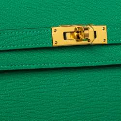 Hermes Green Leather Kelly Longue Wallet