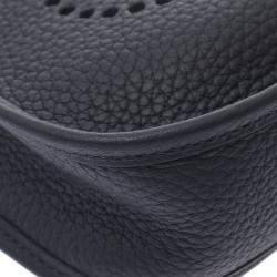 Hermes Black Leather Evelyne TPM Shoulder Bag