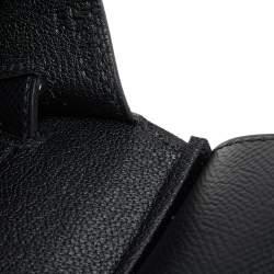 Hermes Black Epsom Leather Gold Plated Birkin Sellier 25 Bag