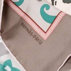 Hermes Multicolor L'annee du Dragon Print Silk Square Scarf