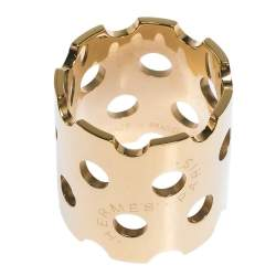 Hermes Perforated Detail Permabrass Scarf Ring