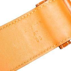 Hermes Tan Leather Etrier Belt 90CM